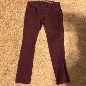 Gap skinny Burgundy pants